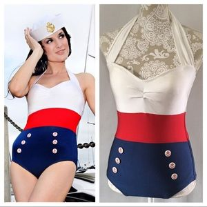 Fables by Barrie one piece sailor swimsuit
